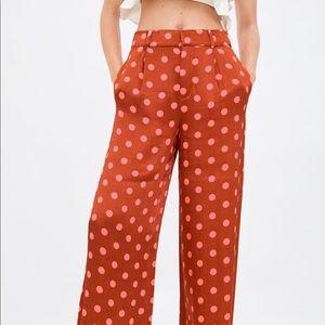 Zara polka dot pants small